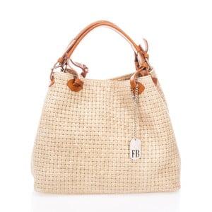 Krémová kabelka z pravé kůže Federica Bassi Trish