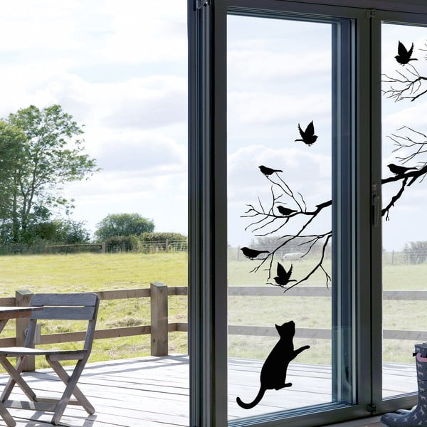 Samolepka na okno Kočka