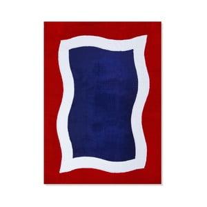 Dětský koberec Mavis Blue and Red Water, 100x150 cm