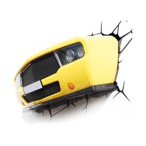 Nástěnné světlo s nálepkou Tnet Yellow Muscle Car