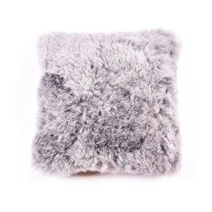 Pernă de blană cu fir scurt Grey, 45 x 45 cm
