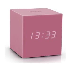 Ceas deșteptător cu LED Gingko Gravity Cube, roz