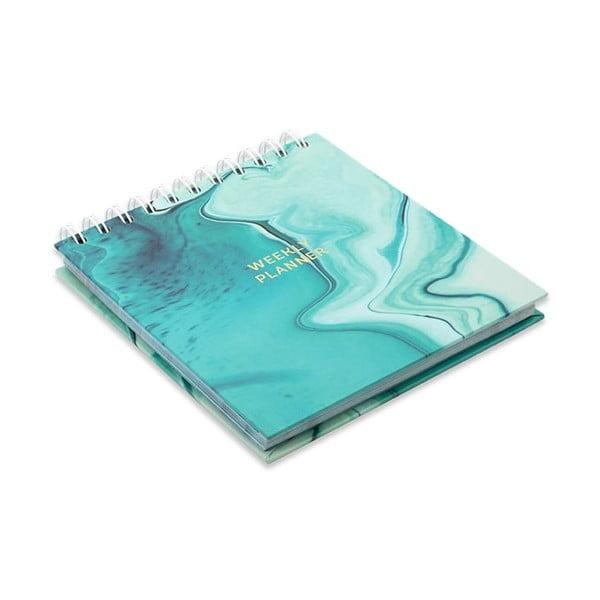 Tyrkysově modrý týdenní plánovač GO Stationery Aqua Marine