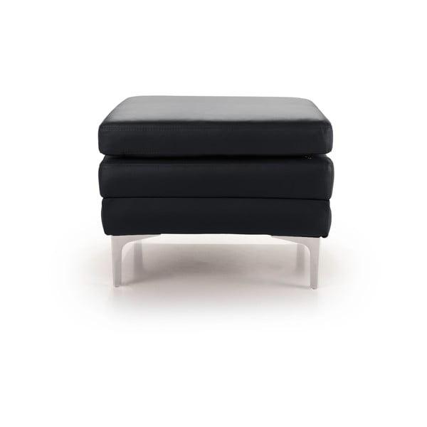 Černá kožená lavice Scandic Twigo