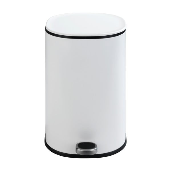 Coș de gunoi cu pedală Wenko Nant, 5l, alb mat