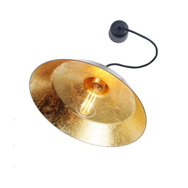 Černé stropní svítidlo s detailem ve zlaté barvě Bulb Attack Cinco