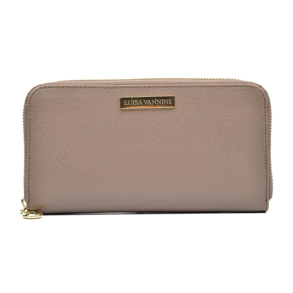 Béžová dámská kožená peněženka Luisa Vannini Grunto