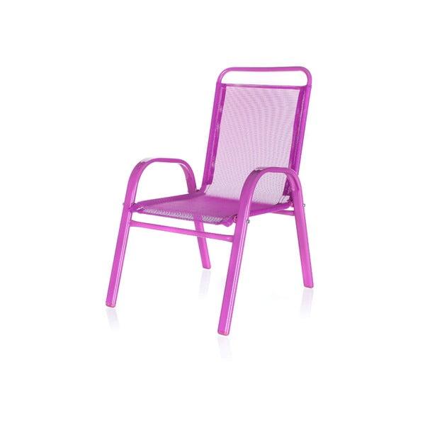 Dětská zahradní židle Kids, růžová