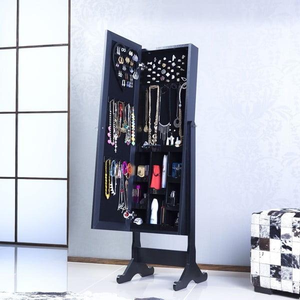 Stojací zrcadlo se šperkovnicí Gaudi, černé
