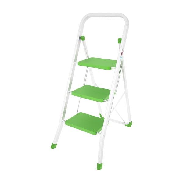 Zelený skládací žebřík Colombo New Scal Stabilo III