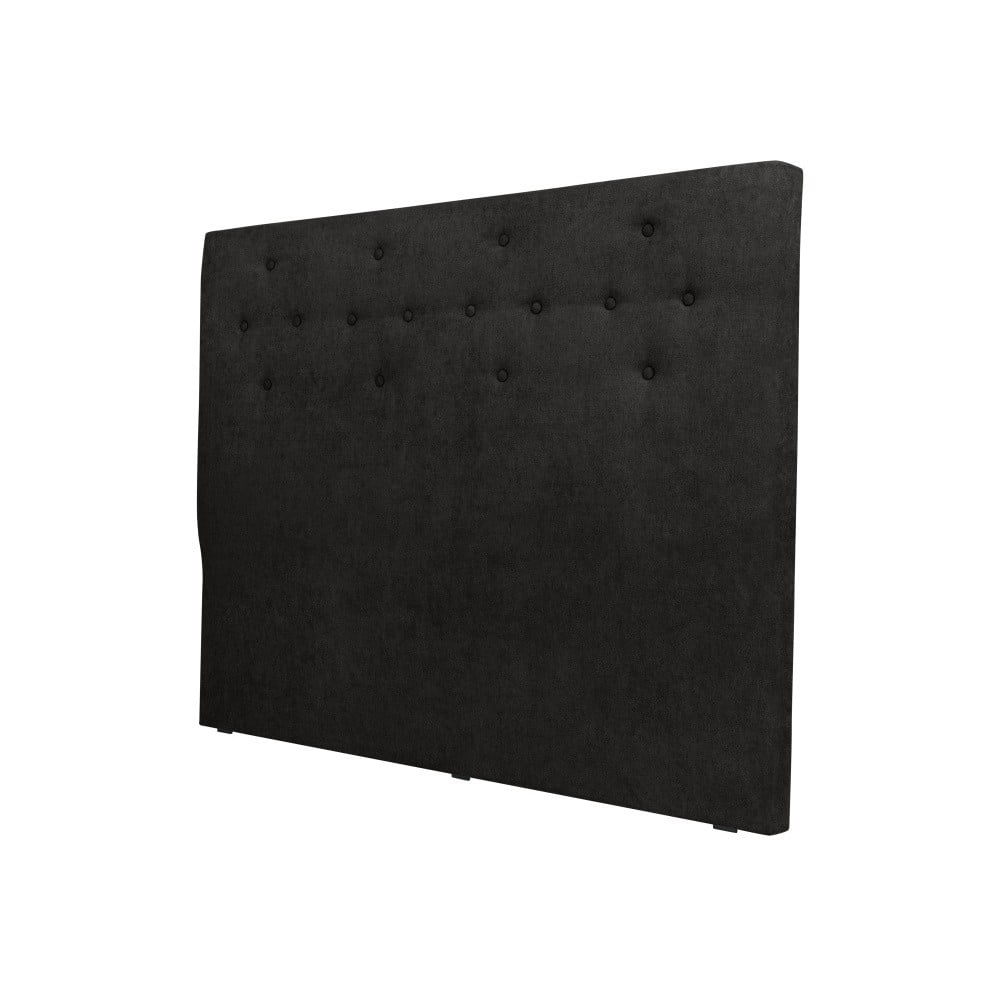 Černé čelo postele Cosmopolitan design Barcelona, šířka 162 cm