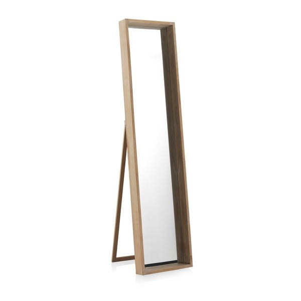 Stojací zrcadlo ze dřeva paulovnie Geese Pure, 170x40cm