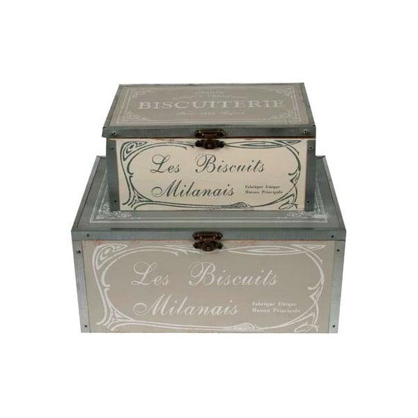 Sada 2 boxů Biscuits Milanais