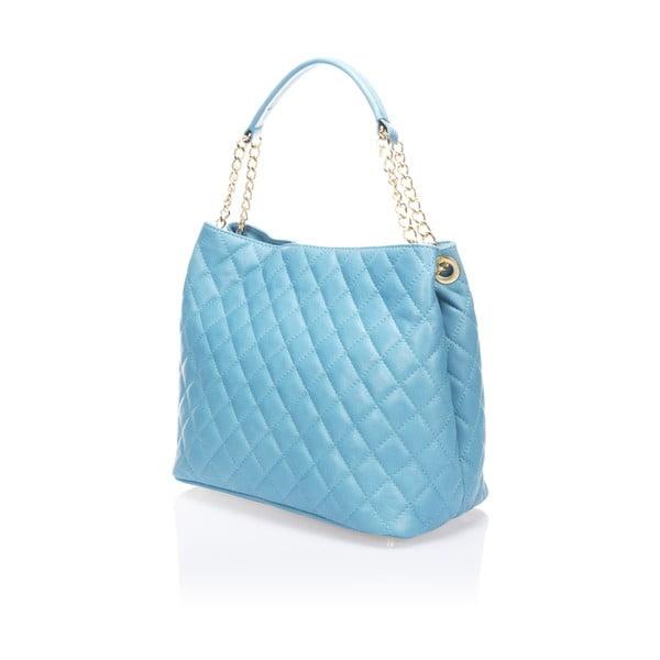 Modrá kožená kabelka Markese 6938