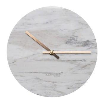 Ceas de perete din marmură Zuiver Marble Time, alb de la Zuiver