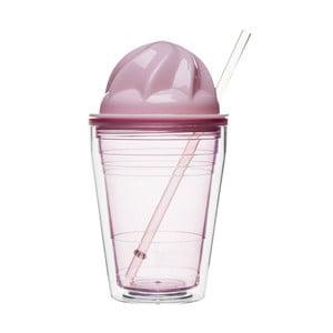 Růžový hrnek na mléčné koktejly Sagaform
