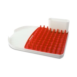 Červený odkapávač na nádobí Vialli Design Colori