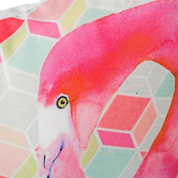 Polštář Half Flamingo, 45x45 cm