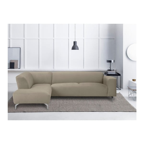 Rohová pohovka v přírodní barvě Windsor & Co Sofas Orion, levý roh