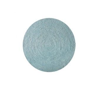 Koberec z juty Linen Couture Rug Circle Blue Wave, ⌀ 140 cm