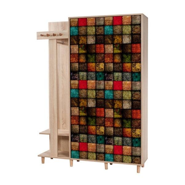 Garmanto Square barna előszoba szekrény, magasság 194 cm