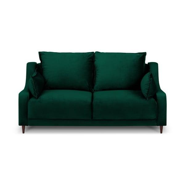 Zelená sametová pohovka Mazzini Sofas Freesia, 150 cm