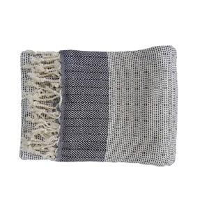 Modrá ručně tkaná osuška z prémiové bavlny Homemania Nefes Hammam,100x180 cm