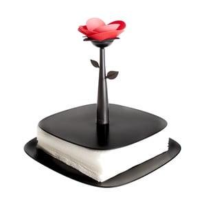Držák na ubrousky Vigar Black Flower