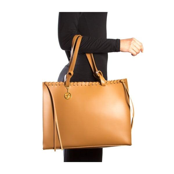 Kožená kabelka Felicia, koňak