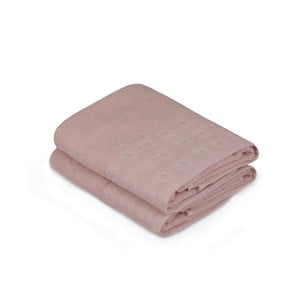 Sada dvou růžových ručníků v odstínu dusty rose Provence, 90x50cm