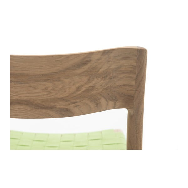 Židle Fawn White Pigment Gazzda, zelená