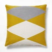 Žluto-šedý polštář La Forma Vang,45x45cm