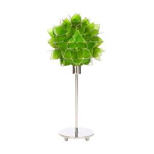 Perleťová stolní lampa Lotus, zelená