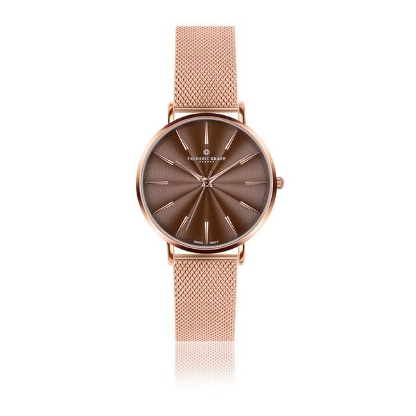 Dámské hodinky s páskem z nerezové oceli v růžovozlaté barvě Frederic Graff Rose Monte