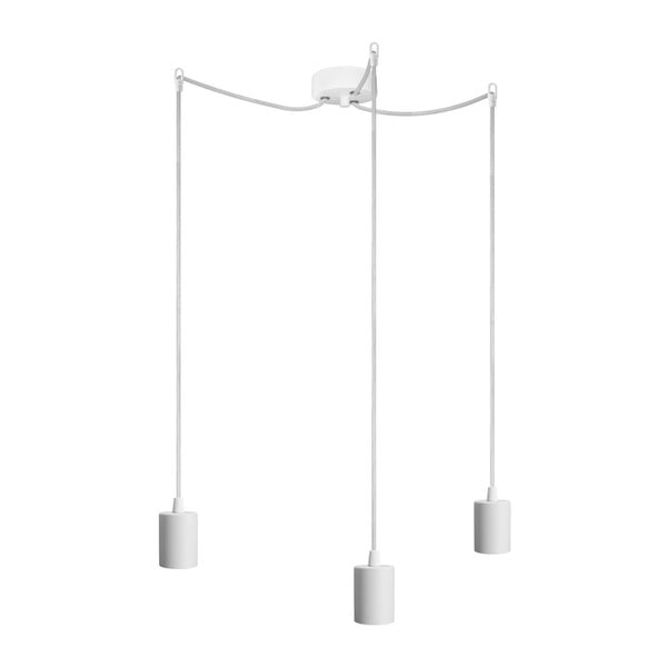 Bílé závěsné svítidlo se 3 kabely Bulb Attack Cero