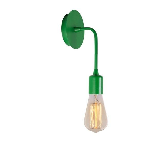 Zelené nástěnné svítidlo Simple Drop