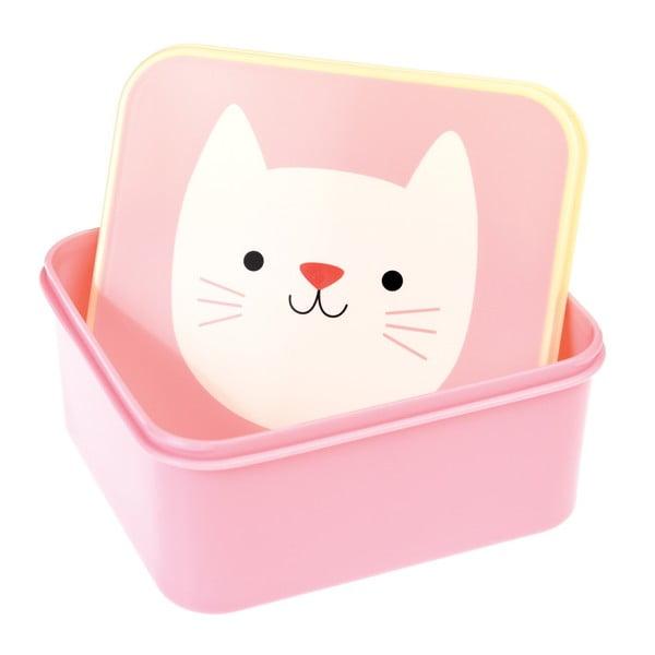 Růžový obědový box Rex London Cookie The Cat