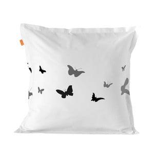 Bavlněný povlak na polštář Blanc Butterflies,80x80cm