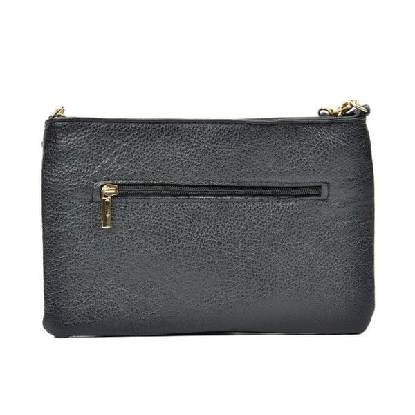 Černá kožená kabelka Anna Luchini Maluno