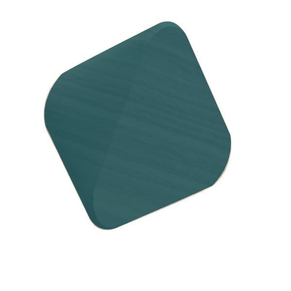 Petrolejově zelený háček z dubového dřeva na kabáty HARTÔ Leonie, Ø 10 cm