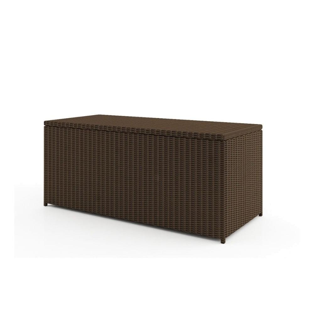 Větší hnědý úložný box Oltre Scatola