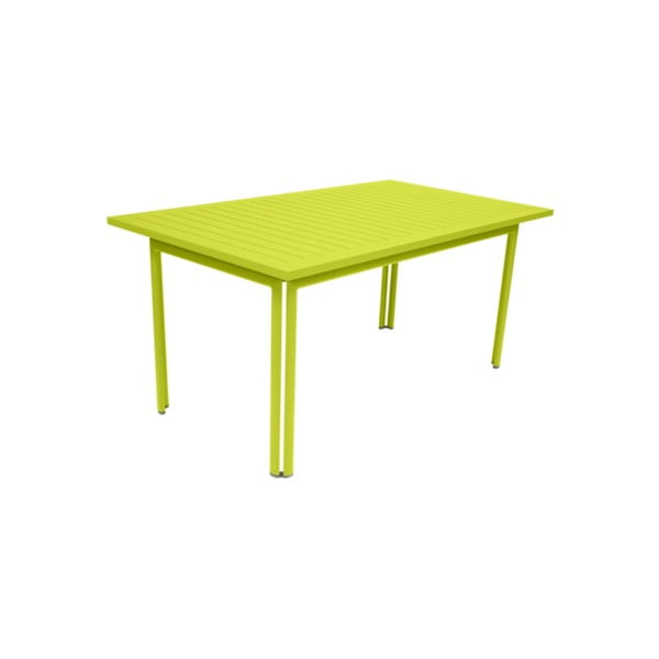 Zelený záhradný kovový jedálenský stôl Fermob Costa, 160×80 cm