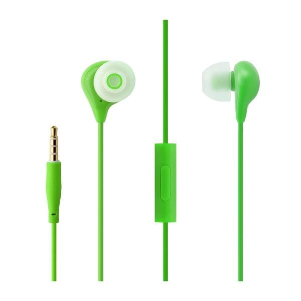 In-ear sluchátka s mikrofonem FIXED EGG1, zelená