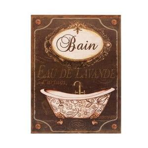 Plechová cedule Antic Line Bain
