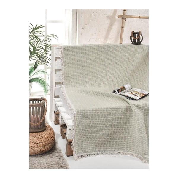 Cuvertură pat din bumbac Cizgill Mint, 180 x 220 cm