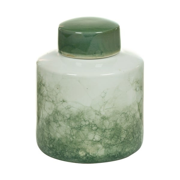 Havan fehér-zöld agyagkerámia tároló, magasság 22 cm - Santiago Pons