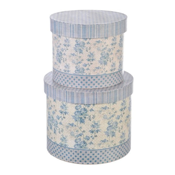Set boxů Round Flower, 2 ks