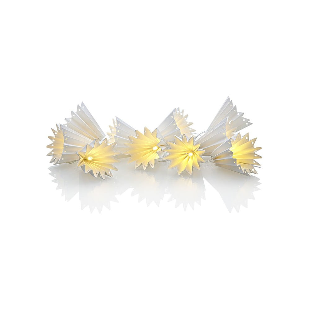 Svítící papírový LED řetěz Markslöjd Klocka