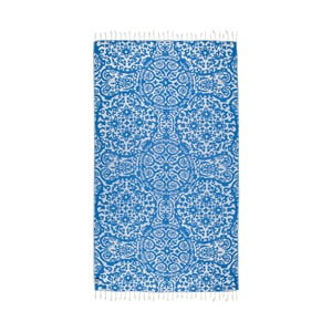 Prosop baie hammam Kate Louise Camelia, 165 x 100 cm, albastru
