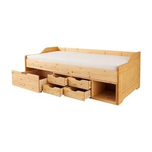 Jednolůžková postel z masivního borovicového dřeva Støraa Marco